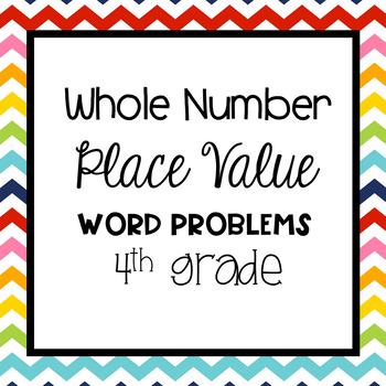 Place Value Word Problems Grade 4