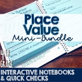 4th Grade TEKS Place Value Interactive Notebook & Quick Check Mini-Bundle