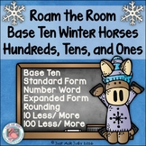 Place Value Hundreds, Tens, and Ones Activity Winter Horses