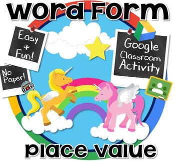 Place Value Word Form - Google Classroom