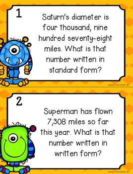 Place Value Fun Word Problem Task Cards