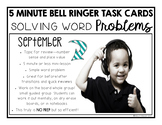 Place Value Word Problem Task Cards-SEPTEMBER