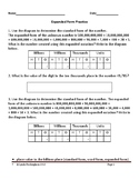 Place Value Word Problems with Answer Key