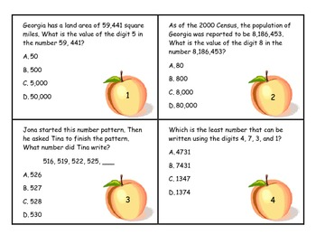 Place Value Word Problems - Georgia Theme (Common Core)