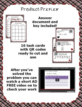 Place Value Word Problems with QR Codes