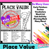Place Value Word Search Activity