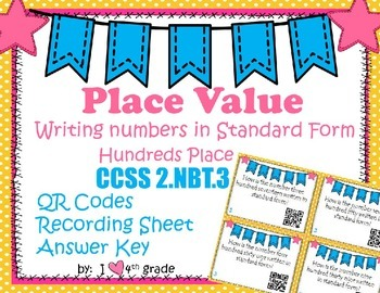 Place Value Word to Standard Form SCOOT with QR Codes Game