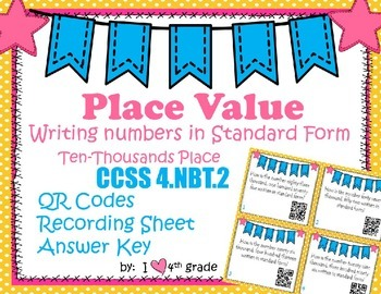 Place Value SCOOT with QR Codes
