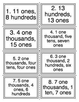 Place Value Words Task Cards