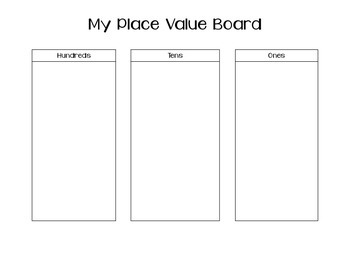 Place Value Work Board