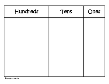 Place Value Work Mat - 2.NBT.1