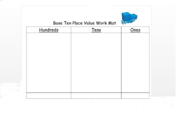 Place Value Work Mats