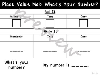 Place Value Work Mats: What's Your Number: Thousands, Hundreds, Tens, & Ones