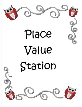 Place Value Work Station