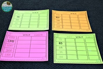 Place Value Work Station Mats