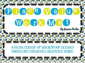 Place Value Work mat- a Math activity for building numbers with tens and ones