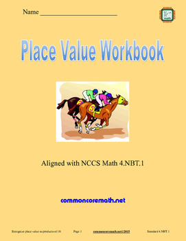 Place Value Workbook - 4.NBT.1