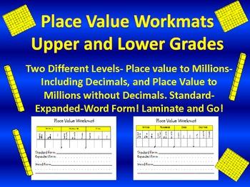 Place Value Workmats-Grades 3-5-Dry Erase- Practice