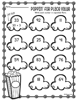 Place Value Worksheet Practice for Two-Digit Numbers