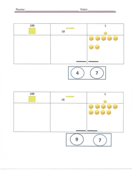 Special Needs Place Value Worksheets 0-69