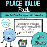 Place Value Worksheets & Task Cards {2nd Grade}