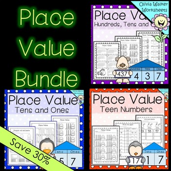 Place Value Worksheets / Printables / Bundle