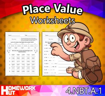 4.NBT.1 - Place Value Worksheets