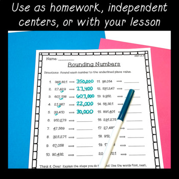 4th Grade Place Value Worksheets ~ CCSS Aligned