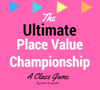 Place Value Worksheets & Charts - The Ultimate Championship Game