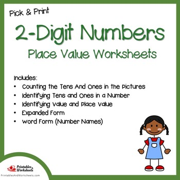 Place Value Worksheets Double Digit, Place Value Tens and Ones Worksheets