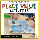 Place Value Worksheets & Games - Differentiated 3-digit, 4