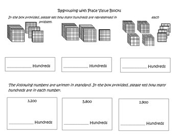 Place Value Worksheets: How Many Hundreds? and Place Value Charts