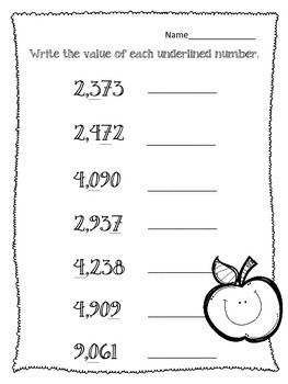 Place Value Worksheets. Math Centers. Assessment. Expanded Form Word Form