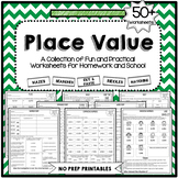 Place Value Worksheets NO PREP PRINTABLES