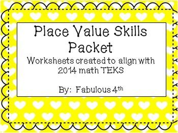 Place Value Worksheets (New 2014 TEKS)