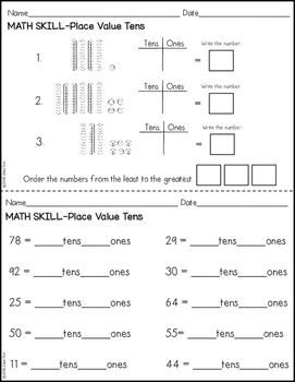place value worksheets third grade by kim 39 s creations tpt. Black Bedroom Furniture Sets. Home Design Ideas