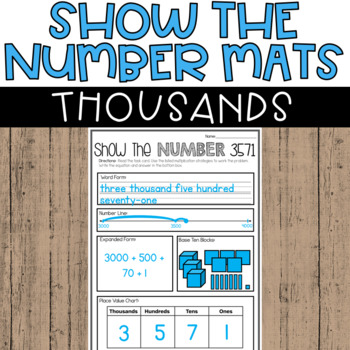 Place Value Worksheets 3rd Grade Thousands Number Of The Day Tpt