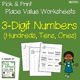 Place Value Worksheets 3 Digit, Place Value Hundreds Tens and Ones Worksheets