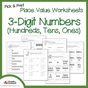 place value hundreds tens and ones worksheets 3 digit place value worksheets. Black Bedroom Furniture Sets. Home Design Ideas