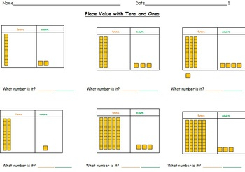 Place Value Worksheets Using Tens And Ones By Miss