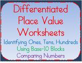 Place Value Worksheets:Understanding Ones, Tens, Hundreds