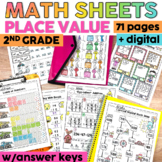 Place Value Worksheets or Packets | Printable & Digital |