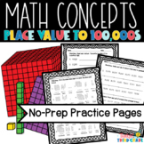 Place Value Worksheets 3rd Grade TEKS aligned 4th Grade CC