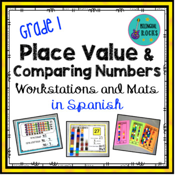 Place Value Workstations in Spanish for Grade 1