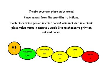 Place Value Worm/Snake
