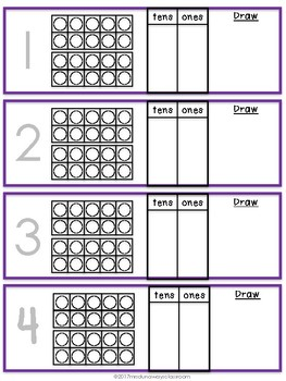 Place Value Write On Task Cards