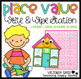 Place Value: Write & Wipe Station {1 More, 1 Less, 10 More, 10 Less}