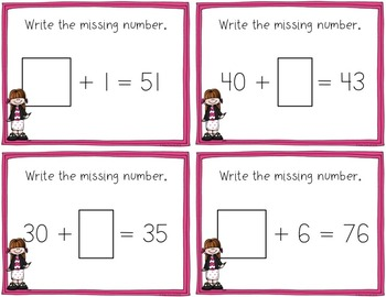2-digit Place Value Task Cards for Expanded Form, Base Ten, & Comparing Numbers