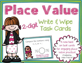 2-digit Place Value Task Cards for Expanded Form, Base Ten