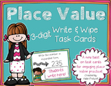 3-digit Place Value Task Cards for Expanded Form, Base Ten, & Comparing Numbers